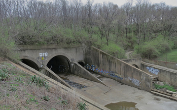 Infrastructure such as the water ducts serving River des Peres, in southwest St. Louis, is one example of things that could be addressed with increased funding. (Paul Sableman/flickr)
