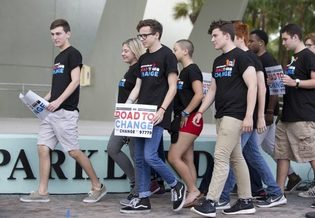 Gun control student activists on the Road to Change