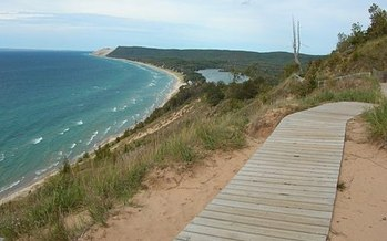 The National Park Service estimates that the Sleeping Bear Dunes National Seashore needs almost $17 million in repairs. (National Park Service)