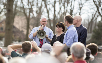 Vice President Mike Pence is in Missouri and Illinois on Thursday, campaigning for Republicans running in November. (Paul D. Williams/The White House)