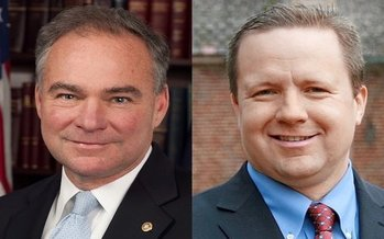 U.S. Sen. Tim Kaine, D-Va., and Republican challenger Corey Stewart are set to appear in three televised debates. (Wikimedia Commons/Trimmel Gomes)