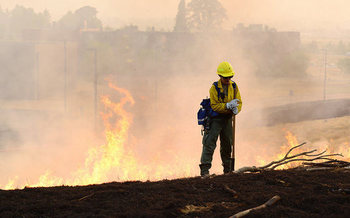 Firefighting costs for the U.S. Forest Service topped $2 billion in 2017. (April Davis/Oregon National Guard)