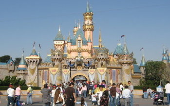 Disneyland and Universal Studios are among the large companies that benefit from California's Prop 13, paying pre-1978 tax rates on some of their properties. (Wikimedia Commons)