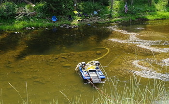Suction dredge mining is an intensive process that can destroy fish habitat. (Idaho Conservation League)
