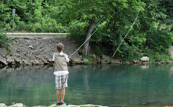 Mercury and other pollutants threaten fishing in many of Missouri's waterways. (Tanya Impeartrice/Flickr)