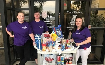 In their Supermarket Dash event, Treasure Valley credit unions raised $4,000 for their local food pantries. (Salvation Army Nampa Corps)