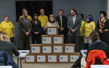 Supporters of Proposal 1 submitted 354,000 signatures to get it on the ballot. (Marijuana Policy Project)