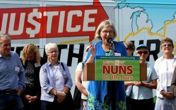 The Nuns on the Bus are in Iowa this week to deliver a message of economic justice and express their concerns about the 2017 GOP tax bill. (globalsistersreport.org)