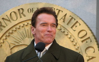 Former California Gov. Arnold Schwarzenegger helped pass anti-gerrymandering rules in the Golden State, and will rally for similar reforms in Michigan on Saturday. (Nate Mandos)
