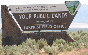Eight in 10 acres of land in Nevada are federally owned, so public-lands issues are ever present in the state's political debates. (Bureau of Land Management/Flickr)