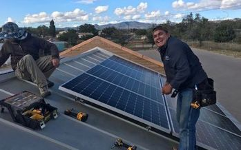 For Santa Clara's Centro de Amistad Community Center, installing solar panels means the money once spent on electric bills can be used to feed senior citizens. (New Energy Economy)