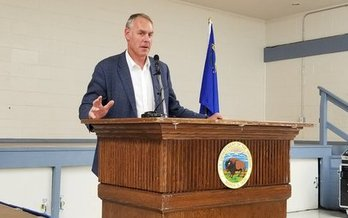 Outgoing U.S. Secretary of the Interior spoke in Nevada about Gold Butte National Monument in June 2017. (Nevada Forward)