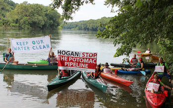 Columbia Gas, a subsidiary of TransCanada, proposed a gas pipeline through Maryland and beneath the Potomac River. (Chesapeake Climate Action Network)