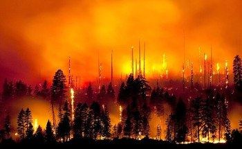 Wyoming residents are concerned about the increasingly visible impact of climate change, including wildfires, according to a new poll of voters in eight Western states. (Pixabay)