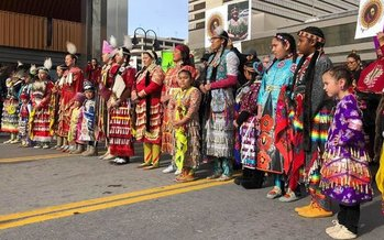 Indigenous women led the 2018 Reno Women's March in honor of their missing and murdered sisters.(Facebook/Women's March Reno)