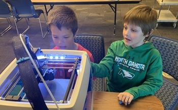 A curriculum developed by farmers unions integrates technology such as 3-D printers with the study of agriculture. (North Dakota Farmers Union)