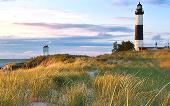 Ludington State Park is one of thousands of places to play in Michigan that have been funded in part by the Land and Water Conservation Fund. (Rudy Balasko/Michigan DNR)