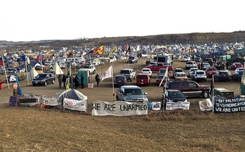 Opponents of a bill to increase penalties for protesters believe the legislation is a response to the Standing Rock protests. (Becker1999/Flickr)