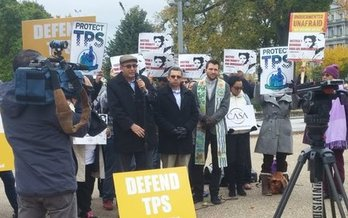 Immigrants' groups are pushing Congress to grant permanent residency to TPS holders. (Sarah Hall)