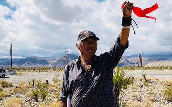 Western Shoshone tribal leaders say a nuclear waste dump at Yucca Mountain would expose their land and people to too much risk. (Johnny Bobb)