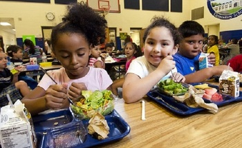 School lunch programs are a part of the federal anti-hunger effort, but the meals often are not available during summer months. (USDA)