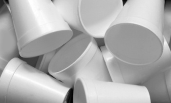 Americans throw away an estimated 25 billion foam cups every year. (Adobe Stock)