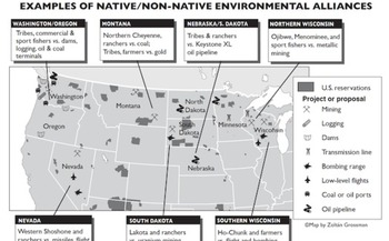 Alliances between rural communities and Native tribes have sprung up across the West and Midwest to protect local lands and waters. (Zoltán Grossman)