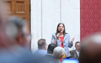 Critics of state-level opportunity zone business tax cuts, such as Del. Barbara Fleischauer, D-Morgantown, argue the tax breaks include huge corporate-tax loopholes. (WV Legislative Photography/Perry Bennett)