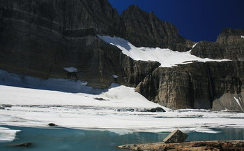 Over the last 50 years, glaciers in Glacier National Park have shrunk by as much as 85%. (Navin75/Flickr)
