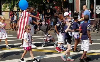 It was more than kids and marching bands at July 4th parades in early presidential nominating states like New Hampshire, as the candidates descended on them to try to make positive impressions on voters. (Mike Licht)