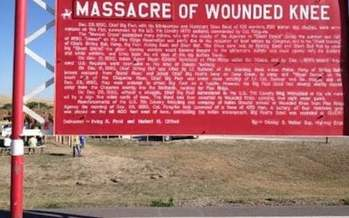 Nine South Dakota Native Americans traveled to Washington, D.C., on Tuesday to participate when legislation was introduced to revoke medals of honor awarded to U.S. soldiers following the 1890 Wounded Knee massacre. (newsmaven.io)<br />