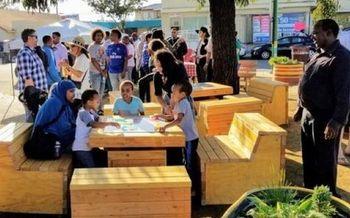 La Corporaci�n de Desarrollo �City Heights� de San Diego gan� los subsidios del Reto Comunitario de la AARP (�AARP Community Challenge�) en 2018 y 2019. Este parque de El Caj�n debut� el oto�o pasado. (CHDC)