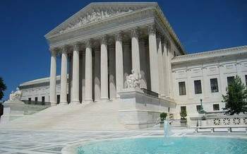 A U.S. Supreme Court decision could decide the fate of amendments barring public-school funding for religious schools in 37 states. (Daderot/Wikimedia Commons)