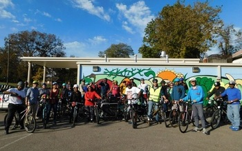 The Works Inc in Memphis organizes neighborhood bike rides and is a recipient of this year's AARP Community Challenge grant. (The Works Inc.)