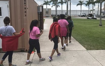 A congressional investigation has found that nine migrant children younger than a year old and 18 younger than two have been forcibly separated from their families and held in detention. (Office Of Refugee Resettlement/Wikipedia)