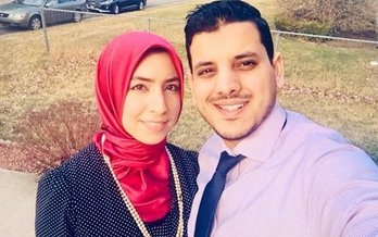 Ann Arbor couple Alaa Kouider and Ameur Dhaimini, along with the Council on American Muslim Relations, are filing a civil-rights complaint against Tim Hortons restaurants. (Alaa Kouider)