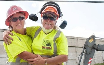 West Virginia construction unions, including the Laborers' International, say they want to increase the number of women in their ranks. (LiUNA/Facebook)