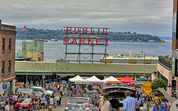 The Pike Market Food Bank was selected for the AARP Community Challenge and will provide more directional signage with the grant. (Kirt Edblom/Flickr)