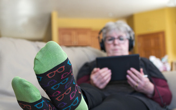 Data shows older Americans are increasing their screen time – television, computer, tablet and phone – even more than teenagers or young adults. (Adobe Stock)