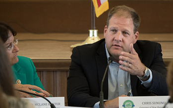 Gov. Chris Sununu on Friday vetoed three bills: HB 109 which would have closed background-check loopholes; HB 514, which would have created a waiting period between the purchase and delivery of a firearm; and HB 564, which would ban guns in schools. (Lance Cheung/Flickr)
