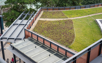 Green roofs lower heating and cooling costs by increasing a building's energy efficiency. (victor217/Adobe Stock)