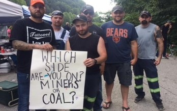 A number of public officials have come out in support of the laid-off Blackjewel miners, who are <br />blocking coal shipments over their bounced paychecks. (Blackjewel Coal LLC Facebook Group)