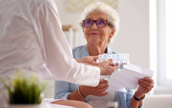 Many Medicare recipients take four or more brand name prescription drugs each month. High costs on a fixed income can force some seniors to choose between medicines or food. (Leonid/AdobeStock)
