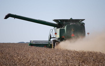 China has promised to raise soybean tariffs by 5% in September. (United Soybean Board/Flickr)