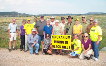 A controversial uranium mine would be located 13 miles northwest of Edgemont and 50 miles from the Oglala Sioux Tribe's Pine Ridge Reservation. (dakotarural.org)