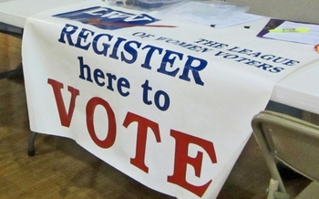 Ohioans are encouraged to review their voter registration status on the Secretary of State's website this month. (NatalieMayor/Flickr)