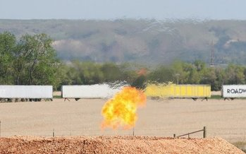 The burning of excess methane deprives states of royalties they would collect if the methane were brought to market. (CK Lund/FrakTracker)