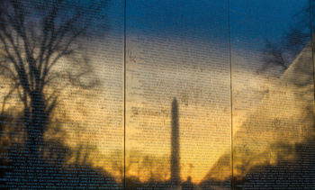 The Vietnam Veterans Memorial Wall in Washington, DC. According to the National Archives, 58,148 American soldiers were killed and more than 300,000 wounded in the Vietnam War. (Adobe Stock)