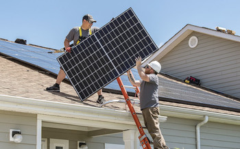 Rooftop solar reduces the need to tap expensive power plants during spikes in demand, keeping prices down for all electricity customers and strengthening grid viability. (USAF)