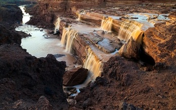 The Grand Falls, also known as Chocolate Falls, are a major feature of the 338-mile Little Colorado River in northern Arizona. (EasyArts/Adobe Stock)